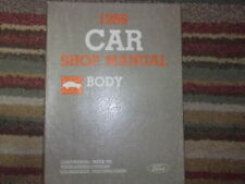 1986 Mercury Cougar Service Shop Repair Body Manual