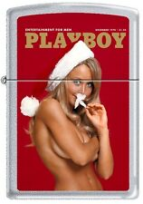 Zippo Playboy December 1970 Cover Satin Chrome Windproof Lighter NEW RARE