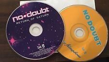 NO DOUBT: Return Of Saturn & Tragic Kingdom Audio (2) Cd's Bundle BOTH!