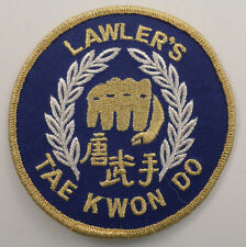 Martial Arts Embroidered Sew On Uniform Patch  Lawler'S Tae Kwon Do