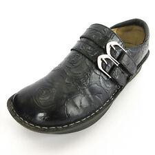 Alegria Shoes 39 8.5 Black Rose Leather PG Lite All-571 Professional Nurse Clogs