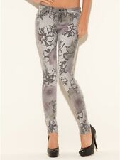 GUESS $148 Women's Brittney Skinny Floral Printed Jeans Size 25