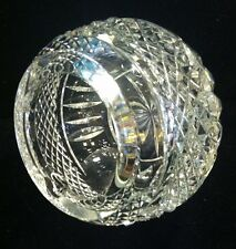 LARGE CUT GLASS GLOBE-SHAPED CIGAR ASHTRAY. QUITE SPECTACULAR!