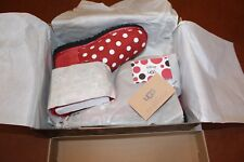 NIB 3 (Older Girls) kids / 4 5 adult New Disney Ugg Sweetie Bow Minnie Red Satin