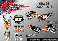 KTM 65 2009-2015 FULL CUSTOM GRAPHICS KIT STICKERS MOTOCROSS DECALS MX MOTOCROSS
