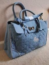 NWT Original Sanrio Blue Denim Hello Kitty Duffel Handbag Magnet Clutch Floral