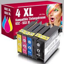 4 Patronen für HP Officejet 6700 Premium 6100 e-Printer 6600e 932XL 933XL