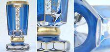 Formschöner blauer Glaspokal (Biedermeierstil) - Erste Hälfte 20. Jhd