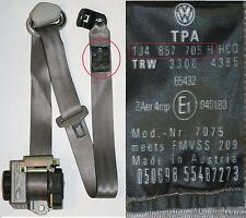 VW BORA SEAT BELT PASSENGERS SIDE FRONT 5 DOOR GRAY 1J4 857 705 H