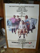 NOBODY'S PERFEKT, nr mint orig 1-sh / movie poster (Gabe Kaplan, Alex Karras)