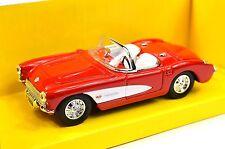 CHEVROLET CORVETTE 1957 94209 1:43 LUCKY ROAD SIGNATURE RED WHITE NEW