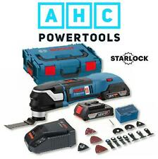 Bosch GOP 18V-28 Starlock Brushless Multi-Cutter with 20 Accessories 2 x 2Ah