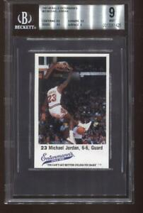 Michael Jordan 1987-88 Chicago Bulls Entenmann's #23 Basketball Card BGS 9 Mint!