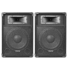 "2x SKYTEC 12"" Active Karaoke DJ Speakers Sound Setup Package 1200w UK Stock"