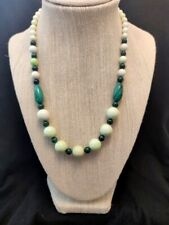 "Jay King Malachite and African Meadow Stone Beaded 18"" Necklace NWT"