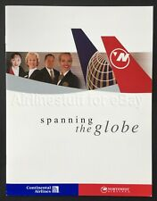 2001 CONTINENTAL NORTHWEST Global Alliance BROCHURE airline airways ad marketing