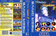 VIRTUA FIGHTER 2 Sega Mega Drive Pal RICAMBIO BOX-Art Custodia Cover inserisci scansione