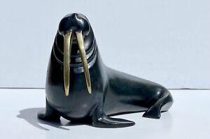 Stunning MCM Loet Vanderveen Alaskan WALRUS BRONZE Sculpture #218/250