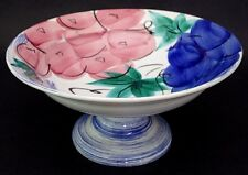 XL Antica Fornace Ceramiche Da Tavola Italy Footed Centerpiece Bowl Hand Painted