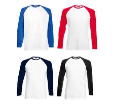 Longsleeve Baseball T-Shirt Langarm T-Shirt Raglan Fruit of the Loom 2er Pack