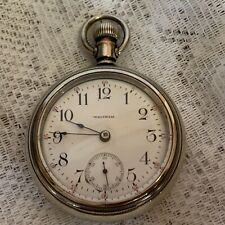 17 Jewel Grade 825 Serviced Running Antique Waltham Pocket Watch Model 1883 1912
