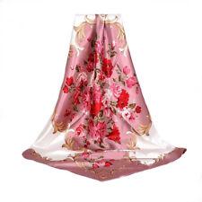 4ab08a9e6e8a Carré Foulard - 100% Soie Thème Floral Rose Silk séide scarf shawl