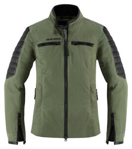 Icon 1000 Womens MH 1000 Green Motorcycle Jacket