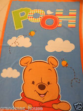 Winnie The Pooh - Blue Polar Fleece Blanket - Large Size!!  Beautiful Gift Idea