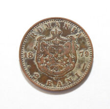 Romania: 2 bani coin since 1879 in VF Condition. UNCLEANED.