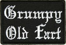GRUMPY OLD FART - IRON or SEW ON PATCH