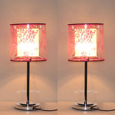Pair of Desk Side Table Lamp Modern Acrylic Shade LED Lighting Bedroom AU New