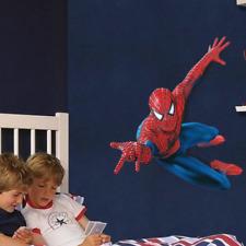 Spiderman Autocollant Mural Super-Héros Chambre à Coucher Décor Poster pour enfant Rouge Avengers NEUF