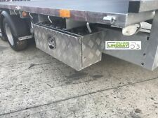 "Truck & Trailer Aluminium Lockable Underbody Tool & Strap Storage Box 26"" x 12"""