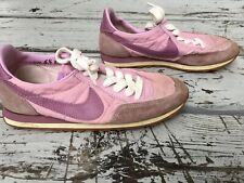 Vtg 80s Nike Pink Muave Lo Top Athletic Womens Shoes Sz 6 1/2 Cortez Waffle
