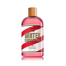 Bath & Body Works Large 16 oz Winter Candy Apple 2 In 1 Bubble Bath Body Wash