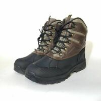 Weatherproof Mens Clint Hiking Trail Boots Brown Black Low Shaft Lace Up 10M New