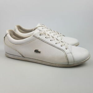 Women's LACOSTE 'Rey Lace 317' Sz 8 US Shoes White VGCon | 3+ Extra 10% Off