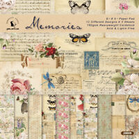 6'' Vintage Flower Paper Pad Scrapbooking Photo Album Card Journal DIY Craft