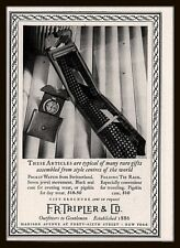 1936  AD  F R TRIPLER MENS FASHION TIE RACK  POCKET WATCH SWITZERLAND