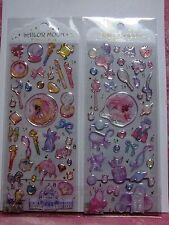 Sailor Moon Crystal Pukkuri Clear Sticker Set 20thJapan Very Rare Compact Ribbon