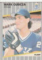FREE SHIPPING-MINT-1989 Fleer Mark Gubicza #283 ROYALS PLUS BONUS CARDS