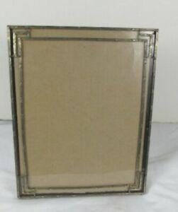 """Vintage Antique silver-tone picture frame Deco Art Nouveau 8"""" X 10"""""""