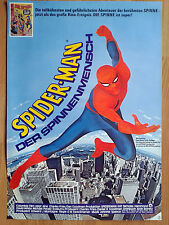 SPIDER-MAN 1977 unfolded! German 1-sheet poster - Nicholas Hammond  MARVEL comic