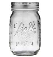 12 Pack Glass Canning, Pickling Mason Jars 16 oz Regular Mouth With Lids & Bands