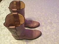 Ladies Girls Size 5 1/2B Justin boots L 3065 pink Roper Western Cowboy Rodeo