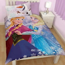 Disney Frozen Crystal Single Panel Duvet Cover Bed Set New Gift Elsa Anna Olaf