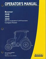 NEW HOLLAND Boomer 3040, 3045, 3050  COMPACT TRACTOR OPERATOR MANUAL 84382266