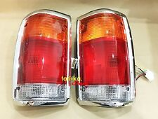 Rear Tail Lights Lamps Chrome LH RH For 1995-1997 Mazda Fighter B2500 Pickup