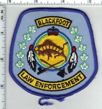 Blackfoot Law Enforcement (Alberta, Canada) Shoulder Patch 1980's