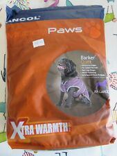 Ancol Muddy Paws Damson Barker Quilted Dog Jacket, XX-Large NEW